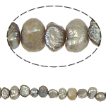 Baroque Cultured Freshwater Pearl Beads, Button, 4-5mm, Hole:Approx 0.8mm, Sold Per 14.5 Inch Strand