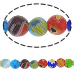 Millefiori Glass Beads, 8mm, Length:15 Inch, 10Strands/Lot, Sold by Lot
