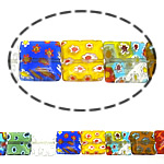 Millefiori Glass Beads, 12x12x4mm, Length:16 Inch, 10Strands/Lot, Sold by Lot