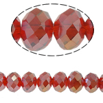 Rondelle Crystal Beads, imitation CRYSTALLIZED™ element crystal, siam, 6x8mm, Hole:Approx 1mm, Length:15 Inch, 10Strands/Bag, Approx 72PCs/Strand, Sold By Bag