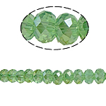Rondelle Crystal Beads, imitation CRYSTALLIZED™ element crystal, Olivine, 6x8mm, Hole:Approx 1mm, Length:15 Inch, 10Strands/Bag, Approx 72PCs/Strand, Sold By Bag