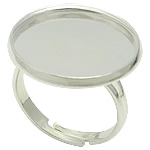 Brass Bezel Ring Base, silver color plated, nickel, lead & cadmium free, 20x20mm, 18x18mm, Hole:Approx 17mm, Inner Diameter:Approx 18mm, Size:7, 200PCs/Bag, Sold By Bag