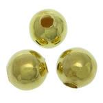 Messing kralen, Ronde, gold plated, glad, lood en cadmium vrij, 5mm, Gat:Ca 1.5mm, 5000pC's/Bag, Verkocht door Bag