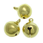 Brass Bell Pendant, gold color plated, nickel, lead & cadmium free, 16x20mm, Hole:Approx 2.5mm, 300PCs/Bag, Sold By Bag