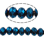 Rondelle Crystal Beads, imitation CRYSTALLIZED™ element crystal, Indicolite, 6x4mm, Hole:Approx 1mm, Length:Approx 16.9 Inch, 10Strands/Bag, Approx 100PCs/Strand, Sold By Bag