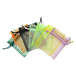 Jewelry Drawstring Bags, 50x70mm, 100PCs/Bag, Sold by Bag
