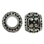 Zinc Alloy European Beads, Drum, without troll & enamel, nickel, lead & cadmium free, 10x8mm, Hole:Approx 5.5mm, 10PCs/Bag, Sold By Bag