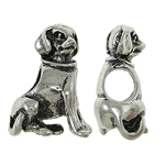 Zinc Alloy European Beads, Dog, without troll, nickel, lead & cadmium free, 12x15x7mm, Hole:Approx 5x4.5mm, 10PCs/Bag, Sold By Bag