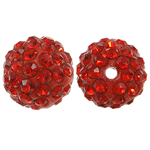 Rhinestone Resin Beads, Round, with rhinestone, Hyacinth, 10x10mm, Hole:Approx 1.5mm, 10PCs/Bag, Sold By Bag