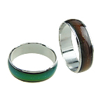 Enamel Mood Finger Ring, with brass setting, color change according to temperature, box packed, width: 6mm, Hole:Approx 16-20mm , 100pcs/Box , Sold by Box