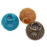 Alumiini helmiä, Drum, maalannut, sekavärit, 16x13mm, Reikä:N. 5mm, 100PC/laukku, Myymät laukku