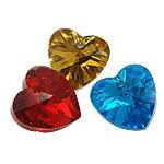 Zawieszki kryształowe, Kryształ, Serce, mieszane kolory, 10x10x5mm, otwór:około 1mm, 10komputery/torba, sprzedane przez torba