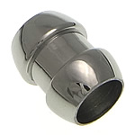 Roestvrijstaal Buis Kralen, Roestvrij staal, oorspronkelijke kleur, 13x10mm, Gat:Ca 7mm, 50pC's/Lot, Verkocht door Lot