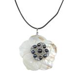 Naszyjnik z naturalnych pereł słodkowodnych, Perła naturalna słodkowodna, ze Guma & Muszla & Stop cynku, Koło, Naturalne, czarny, 119x94mm, sprzedawane na 16.5 cal Strand