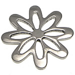 Stainless Steel Connector, Flower, multi loops, original color, 20x20x1.50mm, 30PCs/Lot, Sold By Lot