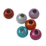 Cudowne akrylowe koraliki, Akryl, Koło, mieszane kolory, 6mm, otwór:około 2mm, 4330komputery/torba, sprzedane przez torba