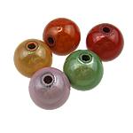 Cudowne akrylowe koraliki, Akryl, Koło, mieszane kolory, 16mm, otwór:około 2.5mm, 225komputery/torba, sprzedane przez torba
