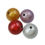 Cudowne akrylowe koraliki, Akryl, Koło, mieszane kolory, 22mm, otwór:około 3mm, 90komputery/torba, sprzedane przez torba