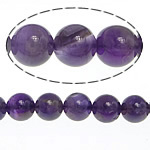 Natural Amethyst Beads, Round, February Birthstone, 8mm, Hole:Approx 1mm, Approx 52PCs/Strand, Sold Per Approx 15.5 Inch Strand