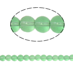 Round Crystal Beads, Peridot, 6mm, Hole:Approx 1.5mm, Length:12 Inch, 10Strands/Bag, Sold By Bag