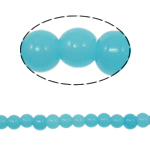 Round Crystal Beads, Crystal Turquoise, 6mm, Hole:Approx 1.5mm, Length:11.8 Inch, 10Strands/Bag, Sold By Bag
