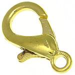 Zapięcie karabińczyk ze stopu cynku, Stop cynku, Platerowane w kolorze złota, bez zawartości niklu, ołowiu i kadmu, 10.20x18.80x4.20mm, otwór:około 2.2mm, 500komputery/torba, sprzedane przez torba
