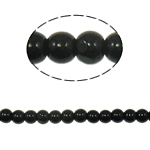 Round Crystal Beads, Jet, 4mm, Hole:Approx 1mm, Length:Approx 11 Inch, 10Strands/Bag, Sold By Bag
