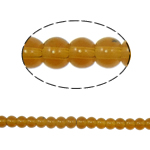 Round Crystal Beads, Smoked Topaz, 4mm, Hole:Approx 1mm, Length:11.5 Inch, 10Strands/Bag, Sold By Bag