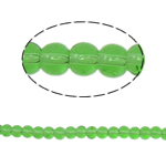 Round Crystal Beads, Fern Green, 4mm, Hole:Approx 1mm, Length:Approx 13 Inch, 10Strands/Bag, Sold By Bag