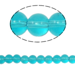 Round Crystal Beads, Indicolite, 8mm, Hole:Approx 1.5mm, Length:12 Inch, 10Strands/Bag, Sold By Bag