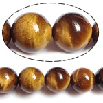 Natural Tiger Eye Beads, Round, 4mm, Hole:Approx 0.8mm, Length:15 Inch, 10Strands/Lot, Sold By Lot