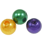 Plastic Beads ABS Plastic Round mixed colors 8mm Hole:Approx 2mm Approx 2000PCs/Bag