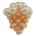 Koraliki z hodowlanych pereł w kształcie piłki, Perła naturalna słodkowodna, Winogrono, 18x20mm, 5komputery/torba, sprzedane przez torba