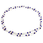 Crystal Freshwater Pearl Necklace, with Crystal & Glass Seed Beads, natural, 6-7mm, Sold Per 45.5 Inch Strand