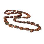 Naszyjnik z naturalnych pereł słodkowodnych, Perła naturalna słodkowodna, Bryłki, Naturalne, czerwony, 12-20mm, sprzedawane na 32 cal Strand