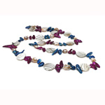 Natural Freshwater Pearl Necklace, with Shell, Nuggets, 20mm, Sold Per 36 Inch Strand