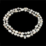 Natural Freshwater Pearl Necklace, mixed colors, A Grade, 9-10mm, Sold Per 32 Inch Strand