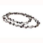 Kryształowy naszyjnik z perłami słodkowodnymi, Perła naturalna słodkowodna, ze Kryształ, Naturalne, gatunek, 9-10mm, sprzedawane na 47 cal Strand