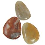 Wisiorki z agatem, Mieszany agat, mieszane, 41-55mm, otwór:około 2-2.5mm, 30komputery/torba, sprzedane przez torba