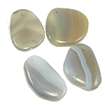 Agate Jewelry Pendants, Mixed Agate, mixed, 42-47mm, Hole:Approx 2.5mm, 30PCs/Bag, Sold By Bag