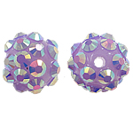 Resin Rhinestone Beads, 10x12mm, Hole:Approx 1mm, 100PCs/Bag, Sold by Bag
