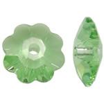 Koraliki z kryształów CRYSTALLIZED™ego, CRYSTALLIZED™, Kwiat, fasetowany, peridot, 6x6x2mm, otwór:około 0.8mm, 720komputery/Box, sprzedane przez Box
