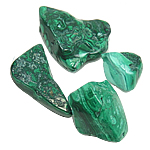 Malachite Pendants, natural, 33-66mm, Hole:Approx 3mm, 17-18PCs/Bag, Sold By Bag