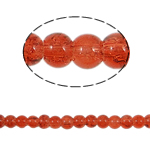 Crackle Glass Beads, Round, reddish orange, 4mm, Hole:Approx 1.5mm, Length:Approx 31 Inch, 10Strands/Bag, Sold By Bag