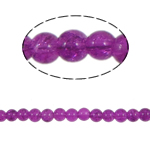 Crackle Glass Beads, Round, fuchsia pink, 6mm, Hole:Approx 1.5mm, Length:Approx 30.5 Inch, 10Strands/Bag, Sold By Bag