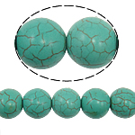 Turquoise Beads, Round, green, 16mm, Hole:Approx 1mm, Approx 25PCs/Strand, Sold Per Approx 15 Inch Strand