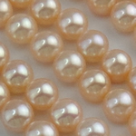 Half Drilled Cultured Freshwater Pearl Beads, Round, natural, half-drilled, pink, 8.5-9mm, Hole:Approx 0.5mm, 30Pairs/Lot, Sold By Lot