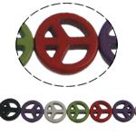 Turkoosi Helmet, Synteettinen Turkoosi, Kolikko, sekavärit, 15x3.50mm, Reikä:N. 1mm, N. 27PC/Strand, Myyty Per N. 15 tuuma Strand
