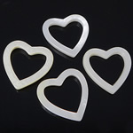 Natural White Shell Beads Heart white 18-19x18-19x2.5-3mm Hole:Approx 13.5x13.5mm 20PCs/Bag