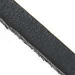 Sznurek skóra bydlęca, Sznur z krowiej skóry, czarny, bez zawartości niklu, ołowiu i kadmu, 3x2.50mm, długość:100 m, 100m/wiele, sprzedane przez wiele